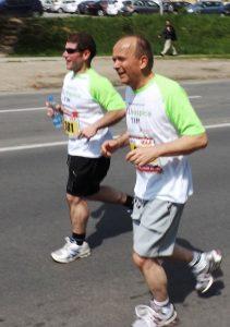 Aleksa Srdanov na Beogradskom maratonu