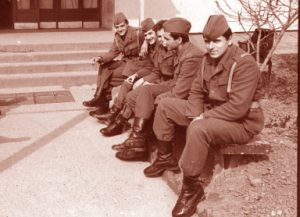 Vojnici u krugu kasarne. foto:Drasko Gagovic