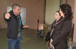 Sasa Pajkic sa nasim novinarkama