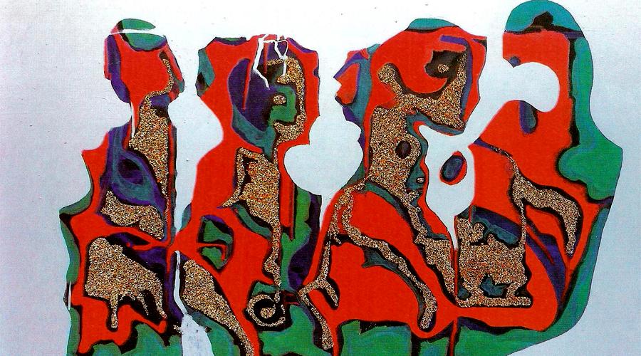Дијалог четири елемента - насловни рад Миладиновићеве изложбе
