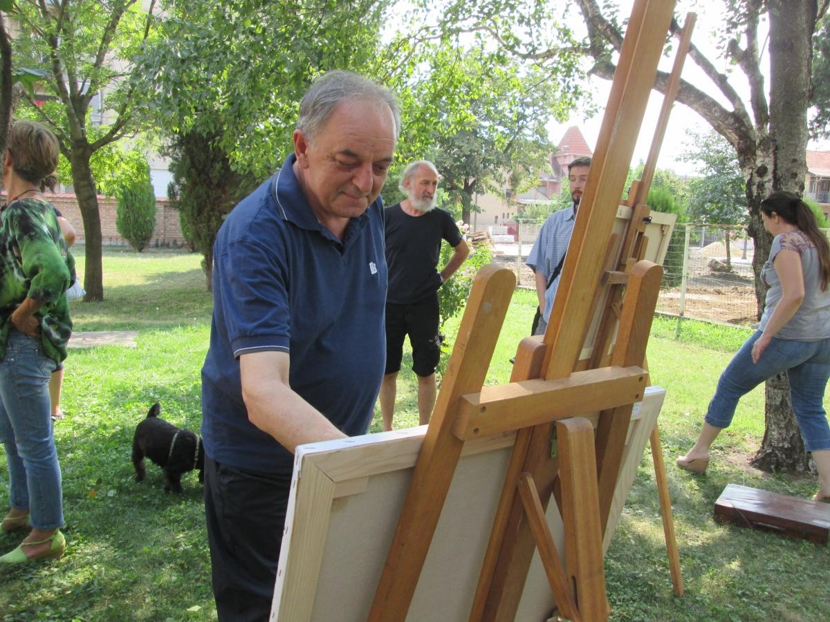 Потез за потезом и ето уметничког дела