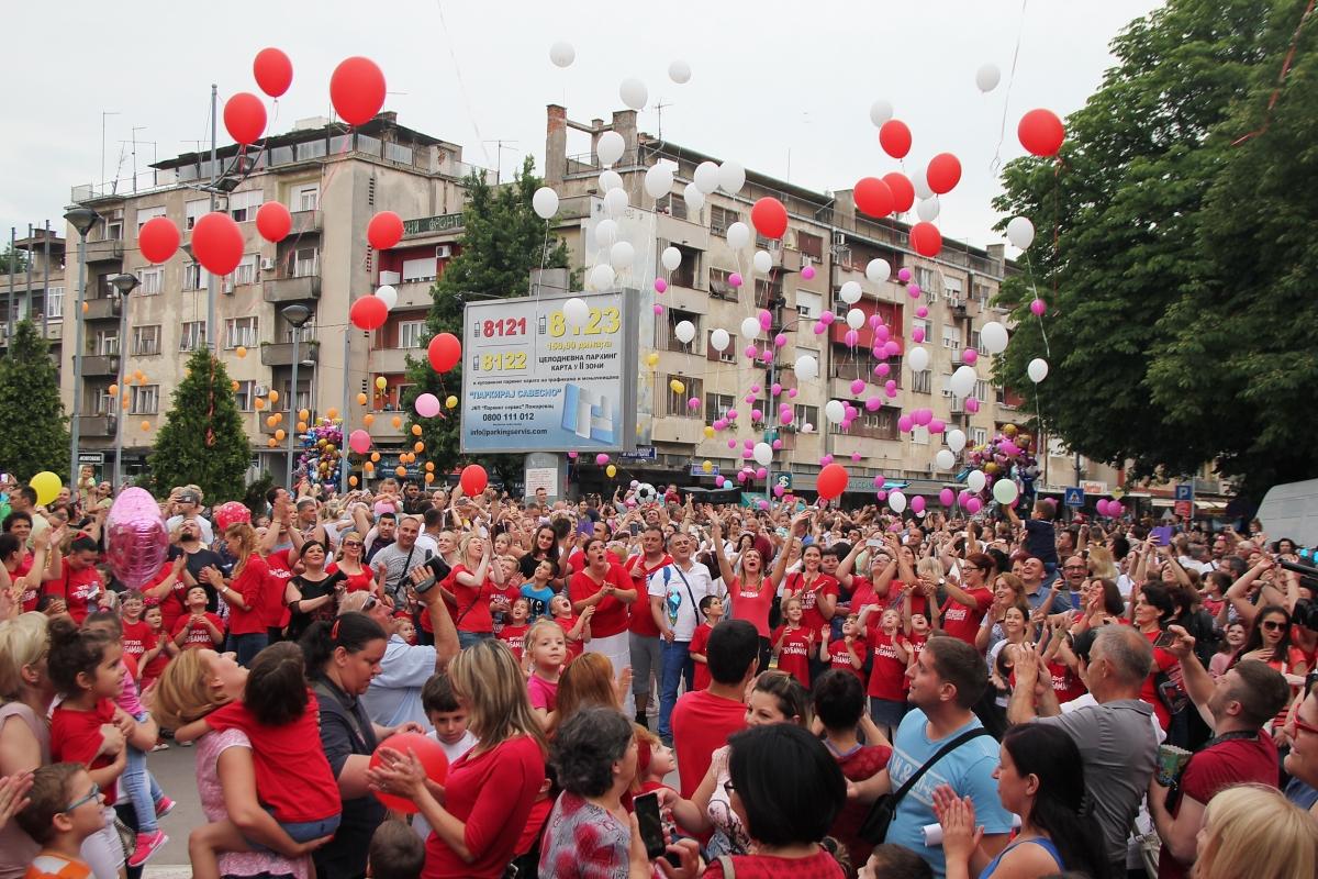 Стотине балона на небу Пожаревца